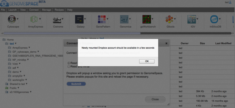 how to connect another dropbox account