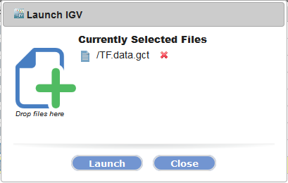 IGV launch dialog